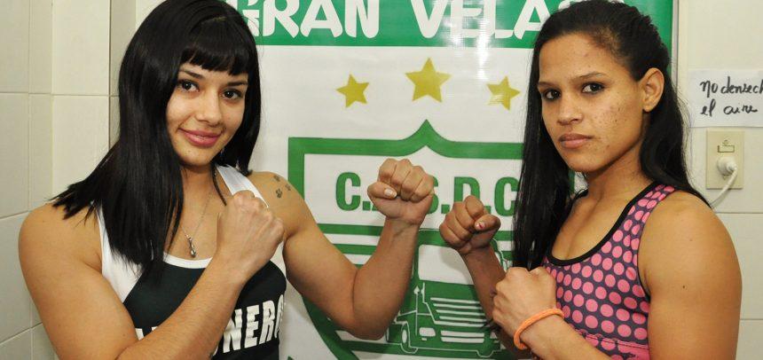 Anahí López y Débora Gómez en peso en Luis Guillón