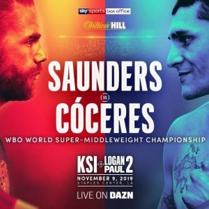 Cóceres against Saunders for world title on 11/9 in LA
