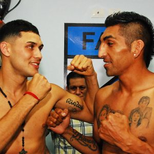 Peralta and Aumada make weight for rematch in Buenos Aires
