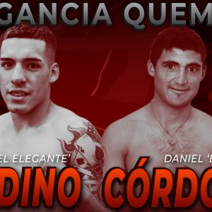 Nicolás Andino against Daniel Córdoba on Friday in Buenos Aires