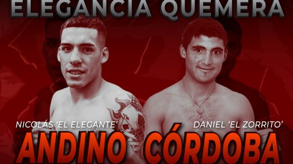 Nicolás Andino against Daniel Córdoba on Friday in Buenos Aires