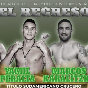 Peralta-Karalitzky, Luques Castillo-Pedraza, the return of boxing on 10/30