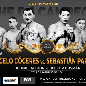Cóceres-Papeschi and Baldor-Gusmán top great show on Friday