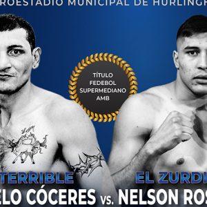 Cóceres-Rosalez, Peralta-Muñoz este jueves