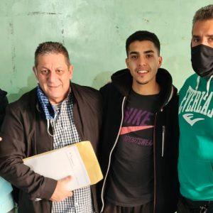 Agustín Quintana firmó contrato con Argentina Boxing Promotions